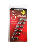 Grover Mini RotoMatics Machine Heads Tuners 205C6 Chrome Inline