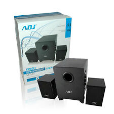 Set audio subwoofer amplificato 2 speakers casse altoparlanti satelliti per casa