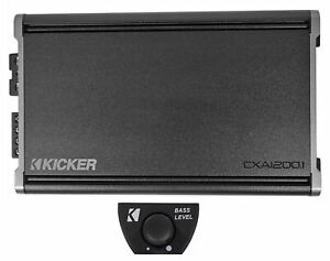 KICKER 46CXA12001 CXA1200.1 1200w RMS Mono Class D Car Amplifier Amp+Bass Knob