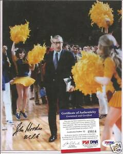 John Wooden Signed 8x10 Photo PSA DNA COA UCLA Bruins Purdue Autographed a