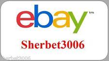 130 x Personalised Stickers Ebay ID Logo Mini Labels