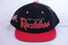 YOUNG & RECKLESS BLACK/RED ADJUSTABLE/SNAPBACK ONE SIZE FLAT BILL HAT