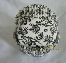 50 elegant black damask white cupcake liners baking paper cup muffin cases