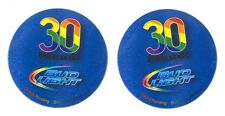 8 Bud Beer Light Gay Pride Rainbow Magnets - Bottoms Up Promo 30 YEARS PROUD