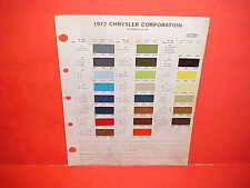 1972 CHRYSLER IMPERIAL PLYMOUTH BARRACUDA DODGE CHALLENGER CHARGER PAINT CHIPS