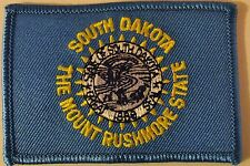 SOUTH DAKOTA STATE FLAG PATCH -  MOTORCYCLE VEST PATCH - MOUNT RUSHMORE