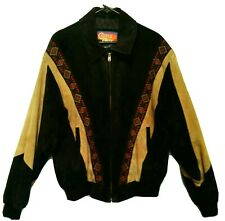 Cripple Creek Men's Leather Jacket Native American Style