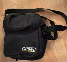 Camera Case Or Bag Or Man Purse 4 Zip Compartments Black Adjustable Straps