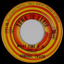 GENERAL CROOK: What Time It Is US Down to Earth Funk Soul Breaks 45 HEAR
