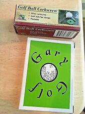 Golf ball corkscrew wine bottle opener + Gary Golf Card Game Vgc Free Shipping