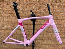 Ridley Jane/Noah SL Aero Freno de llanta de carbono carretera Marco Marco Horquilla Rosa XS