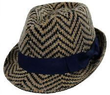 Scala Fashion Cloth Knit Wool Fedora - Navy