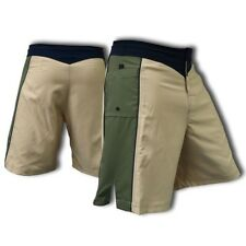 Blank Khaki And Olive Green Mma Fight Shorts - Size 34