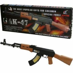 KIDS AK47 SNIPER RIFLE TOY GUN LIGHTS SOUND VIBRATION BOYS ARMY SOLDIER PLAY COD