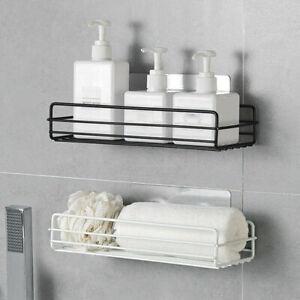 Stainless Steel Bathroom Storage Shelf Punch-Free Toilet Wall Hanging Shelf Rack