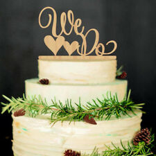 WEDDING CAKE TOPPER Wood Wooden We Do Rustic Sign Country Party Decoration