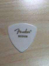 6 Pack Fender 346 Rounded Triangle White Picks - Med