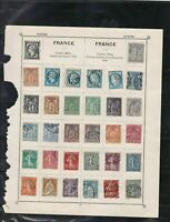 france stamps page ref 17351