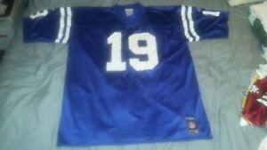 JOHNNY UNITAS #19 COLTS BLUE REPLICA REEBOK FOOTBALL JERSEY X-LARGE u
