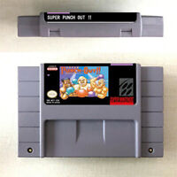 Super Punch Out!! Game Card Console For Nintendo SNES US Version 16Bit English