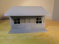 "(1) "" S ""  SCALE  LOG CABIN  or  ONE STORY HOUSE  3D  PRINTED L@@K"