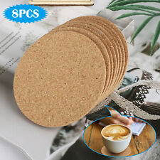 Natural Wood Cork Coasters Absorbent Round Cup Mat Coffee Drink Tea Diy Crafts