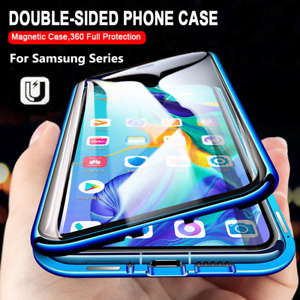 360° Full Magnetic Glass Case For Samsung Galaxy A32 A52 A72 S21 Ultra S20 Cover