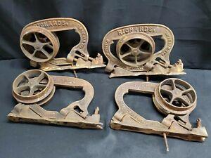 Antique Cast Iron Richards Wilcox Mf'g Co Pocket Door Rollers Pat. May 24 1881