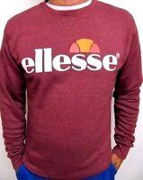 New Men's Ellesse Crew Neck Smash Sweatshirt Top Burgundy Size XXL RRP£45