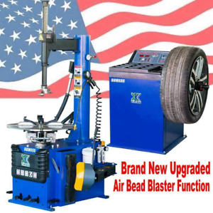 AUTO+1.5 HP Tire Changer Wheel Changers Machine Balancer Rim Clamp Combo 950 680