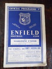 Programme : ENFIELD - FC SONEGIENS (Soignies Sport) -1958 - Football - 8 pages