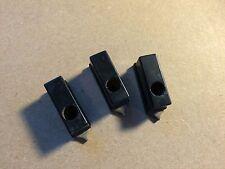 3 Antique Black Bakelite Metal Rectangle Pointer Knobs Guitar Amplifier Radio