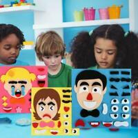 Kindergarten Children DIY Puzzle Game Toys Pupils Expressions Sticke A2G8