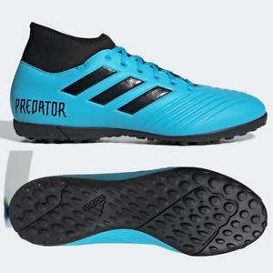 adidas Predator 19.4 TF Mens Astro Turf Football Boots Blue SIZE 6 9 9.5 10 10.5