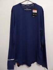 Camisa para hombre Nike Correr-Manga Larga-Dri-Fit-Grande - Azul Oscuro