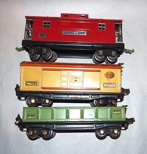 Lionel Prewar O Gauge 812 814 817 Large Freight Cars! PA