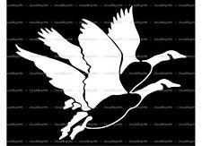 2 Flying Geese - Hunting/Outdoor - Vinyl Die-Cut Peel N' Stick Decals / Stickers