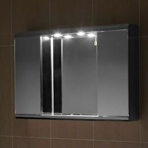 Stainless Steel Bathroom Cabinet  Mirror With Down Lights G2ILLN