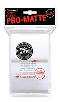 100 Ultra Pro WHITE PRO MATTE DECK PROTECTORS SLEEVES Standard Pokemon Magic MTG