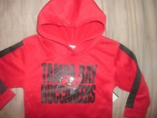 NFL Tampa Bay Buccaneers Kids Toddler Football Hooded Sweatshirt New size 4T (B3