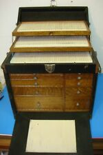 New listing Antique National Cabinet Co. Dental Dentist Case for Tools Suitcase Style