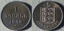 Guernsey : 1889H 1 Double BU Luster Toning  #10 IR5702