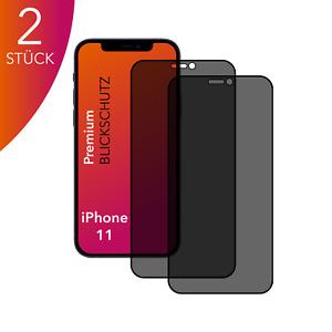 2X für Apple iPhone 11 Anti Spy Panzerfolie Blickschutz Displayschutz 9H