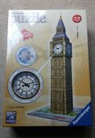 *NEW* Ravensburger 3D Puzzle Big Ben with Real Working Clock 216 piece jigsaw