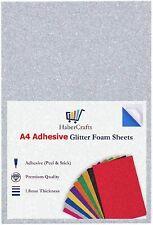 A4 Silver Glitter Foam Sheets EVA Foam Adhesive Sticky Back Foam Sheet 1.8mm