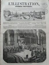"""L' ILLUSTRATION 1856 N 683 - LE """" TE DEUM """" D'ACTIONS DE GRACES A NOTRE- DAME"""