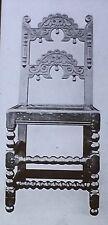 17th Century English Jacobean Chair,Carved Hoop Rails,Magic Lantern Glass Slide