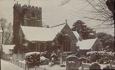 Hadley near Barnet. Church Snow Scene.