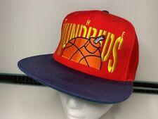 The Hundreds - Snapback Hat Cap Bomb Logo Red & Blue Flat Peak VGC