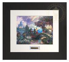 Thomas Kinkade Disney Cinderella Wishes Upon a Dream Modern Home Espresso Frame